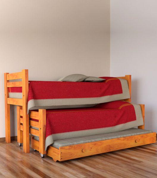 Cama triple muebles para dormitorios platinum express - Cama nido triple ...