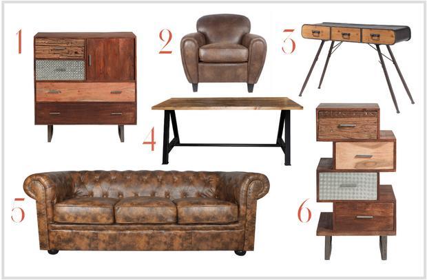 Muebles de estilo vintage muebles platinum express for Muebles estilo industrial