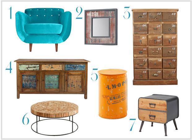 Muebles de estilo vintage muebles platinum express - Estilo vintage muebles ...