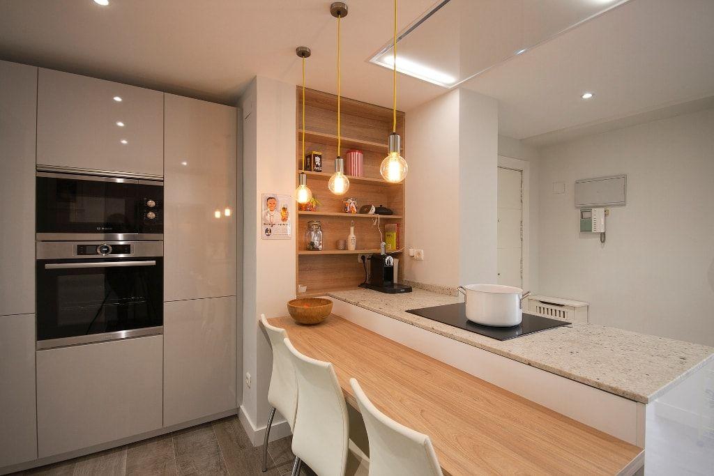 Cocina Barra De Madera Barras de cocina de diseño moderno 50 ideas8 ...
