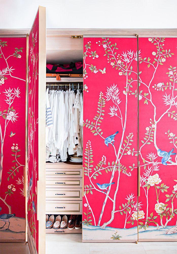 Papel forrar armario elegant decorar una mesilla vintage for Papel para forrar armarios